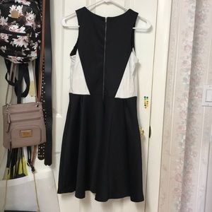 Poof Couture Dresses - Black and White Sleeveless Dress